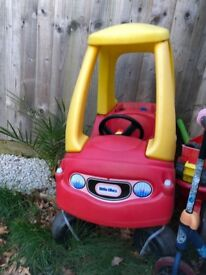Little tikes ride in car