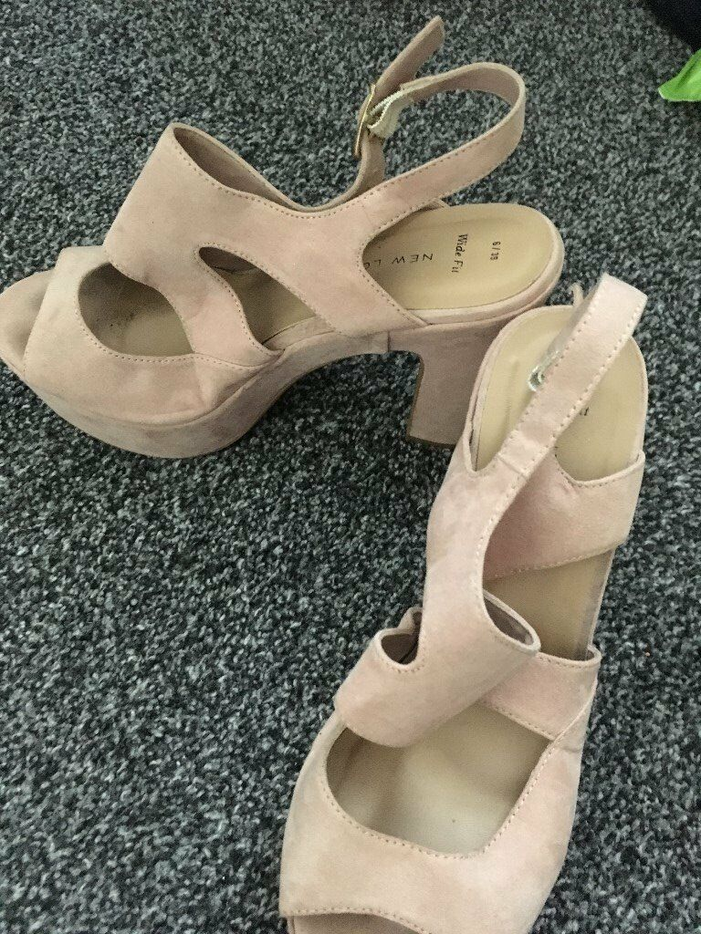 d73097b5e72d new look size 6 beige sandal with wide heels wide fitting