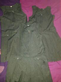 Girls grey school dress x3