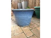 Beautiful glazed large pot