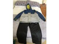 Ski suit coat and salopettes XL