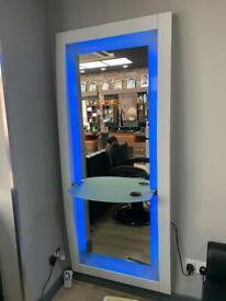 Hairdresser mirrors unit