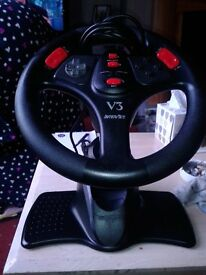 playstation controls steering wheel and pedals V3 interact excellent condition