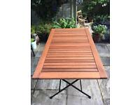 Table and four chairs folding garden furniture set