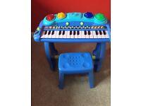 Blue keyboard.