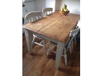 High quality country style table (chairs not included) shabby chic