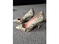 Gorgeous Snakeskin Leather, Moda in Pelle 'Ceisa' shoes. Size 36, Brand New ana never worn