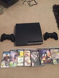PS3 160GB with games including fifa 17