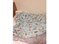 100% cotton print double bed duvet set with matching sheet