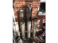 Twin wall chimney flue