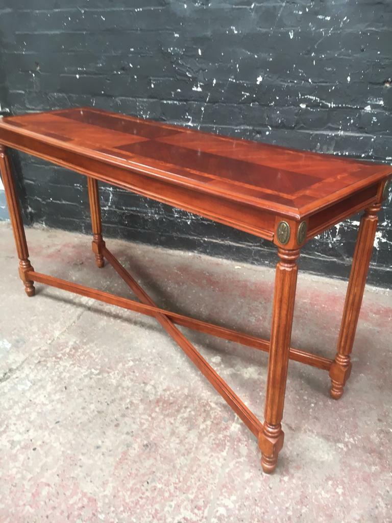 long hall table. Stunning Edwardian Style Long Hall Table. Beautiful Clean Condition. Table T
