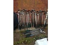 Large job lot golf clubs and bags
