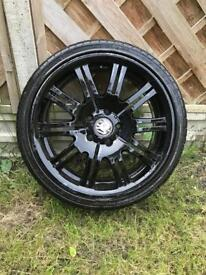 BMW m3 rear wheel 255/35/19 practically brand new tyre £75