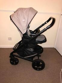 Joie Chrome Pushchair and Carrycot