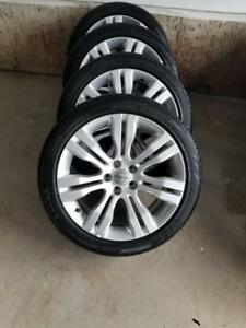 LIKE NEW 2016 CHRYSLER 200  FACTORY ALLOY WHEELS WITH HIGH PERFORMANCE  235 / 45 / 18 ALL SEASON TIRES