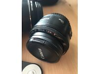 Canon 550d with lenses for sale (18-55 and 50mm)