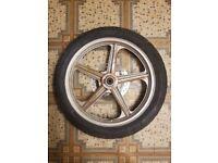lexmoto vixen 125 2014 front rim tyre disc