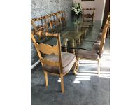 STUNNING DINING TABLE AND 8 CHAIRS - EXCELLENT CONDITION