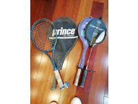 Tennis and badminton raquets