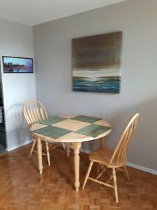 Table and three chairs - excellent condition