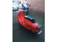 lambretta gp200 scooter 1976 not road registered but all import duty paid