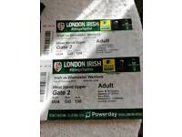 2 Rugby tickets