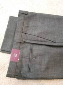 Mens charcoal grey Moss smart trousers brand new.