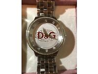 D&G silver watch