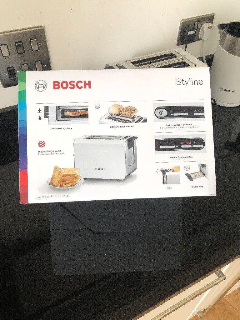 Bosch Styline 2 Slice Toaster-White