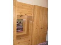 3 piece pine wardrobe set