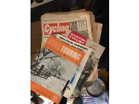 Stack of vintage cycling magazines