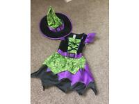 Girls witch costume age 5-6