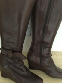 Clark's soft leather tan boots