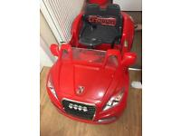 Kids red electric chargeable car with remote control