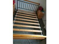 "4'6"" Double Bed Frame and Mattress"