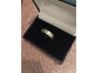 Palladium diamond wedding ring NOW REDUCED PRICE