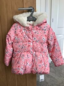 Bnwt girls coat age 2-3 from mothercare