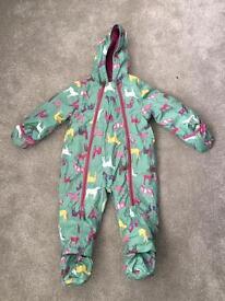 Joules Snow Suit 12-18 mths