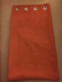 Orange curtains from next