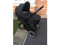 Oyster pushchair with carrycot pram and buggyboard