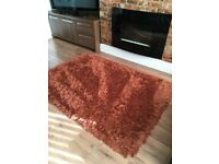 Luxury Orange (Rust) Shimmer Rug