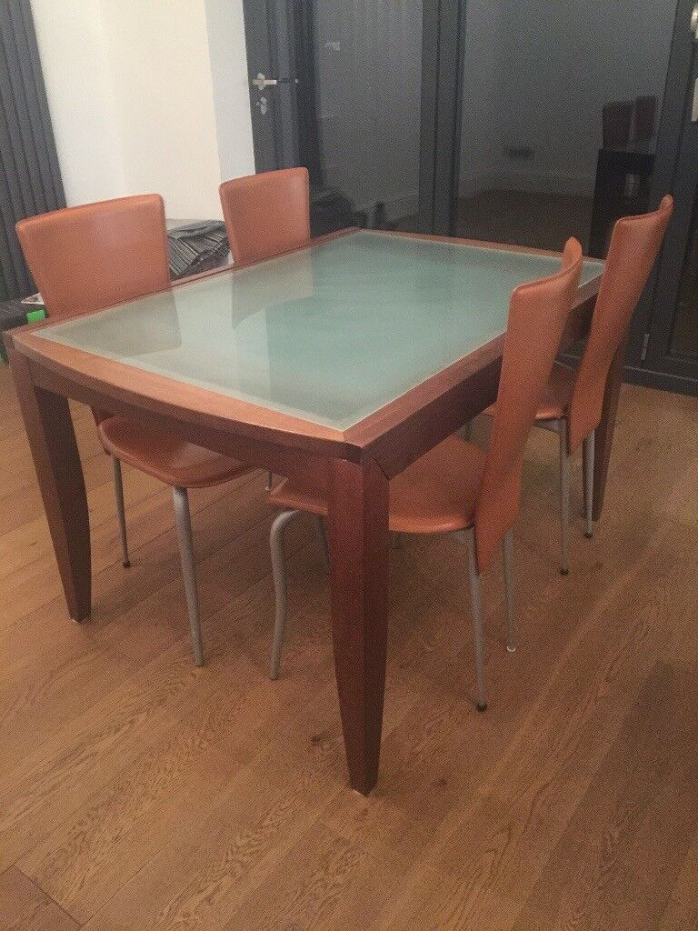Retro Dining Table And Chairs For Sale 90cm X 130cm Height