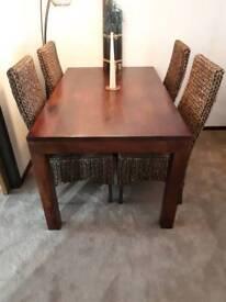 Dark solid Mango dining furniture