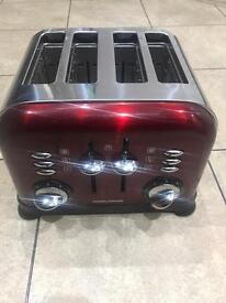 Morphy Richards red toaster
