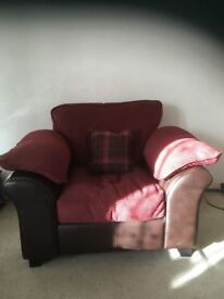 3 seater sofa, arm chair and footstool