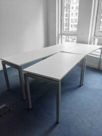 FREE SAME DAY DELIVERY - Rectangular White Office Desk 1200mm by 600mm
