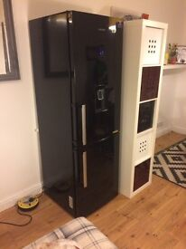 Perfect condition black Samsung fridge freezer with water dispenser and temperature control