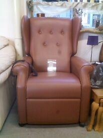 Leather electric reclining armchair REF:GT436