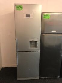 LG FROST FREE FRIDGE FREEZER IN SILIVER WITH WATER DESPENSER