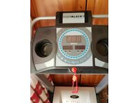 electric powered treadmill by roger black 90kg weight folds flat can deliver local